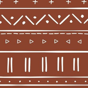 2 // african inspired mudcloth fabric wallpaper gift wrap ethnic mud cloth fabric rust red