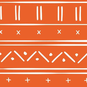 1 // african inspired mudcloth fabric wallpaper gift wrap ethnic mud cloth fabric tangerine orange