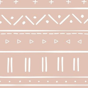 2 // african inspired mudcloth fabric wallpaper gift wrap ethnic mud cloth fabric blush pink and white dusty pink light