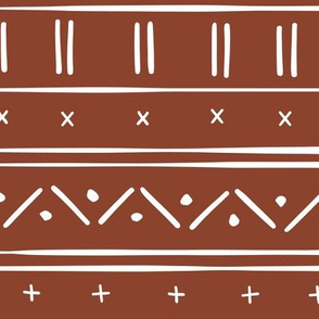 1 // african inspired mudcloth fabric wallpaper gift wrap ethnic mud cloth fabric rust red and white