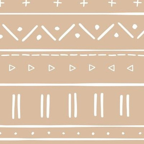 2 // african inspired mudcloth fabric wallpaper gift wrap ethnic mud cloth fabric tan and white