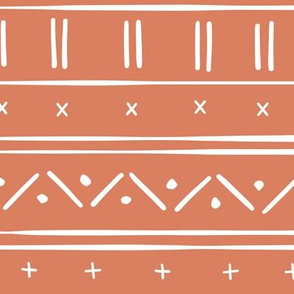 1 // african inspired mudcloth fabric wallpaper gift wrap mud cloth fabric terracotta and white