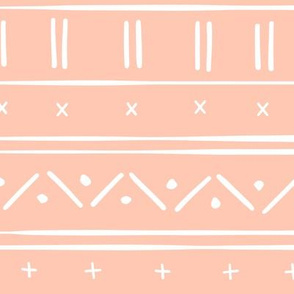 1 // african inspired mudcloth fabric wallpaper gift wrap mud cloth fabric bright salmon pink