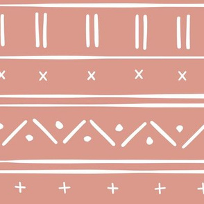 1 // african inspired mudcloth fabric wallpaper gift wrap mud cloth fabric warm dusty pink and white