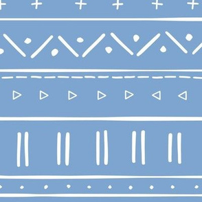 2 // african inspired mudcloth fabric wallpaper gift wrap mud cloth fabric blue and white