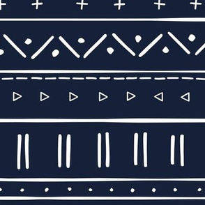2 // african inspired mudcloth fabric wallpaper gift wrap mud cloth fabric navy blue and white