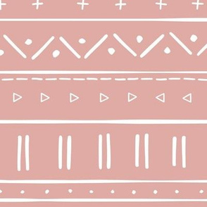 2 // african inspired mudcloth fabric wallpaper gift wrap mud cloth fabric dusty pink blush pink