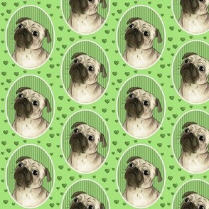 Love for pugs -green small