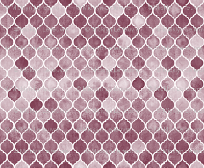 Textured Desaturated Burgundy Moroccan Tiles - tiny version