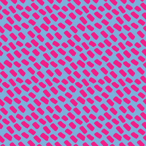 TINY -- hot pink and light blue dash