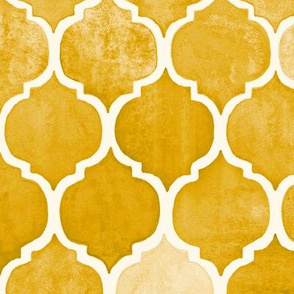 Textured Amber Yellow Moroccan Tiles - large print