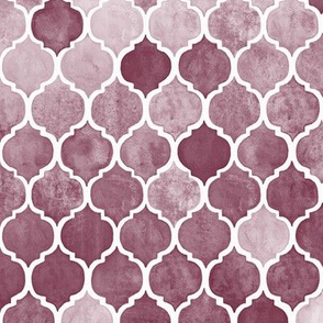 Textured Desaturated Burgundy Moroccan Tiles - medium version