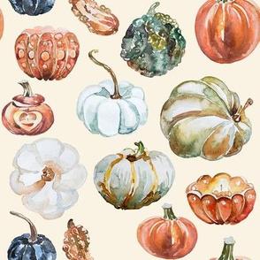 Organic Pumpkins // Cream Linen