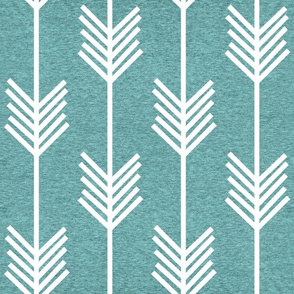 XL Arrow Stripe – Heather Island Blue