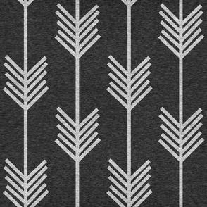 XL Arrow Stripe – Heather Black