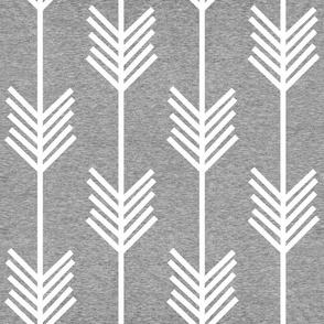 XL Arrow Stripe – Heather Grey