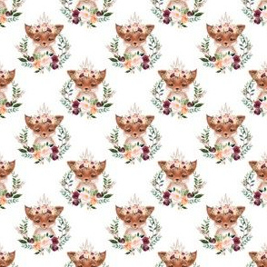 paprika floral fox  with crown 1""