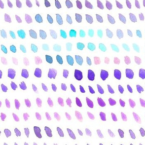 Watercolor Dots - Blue, Purple, Pink