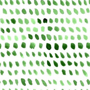 Watercolor Dots - Green