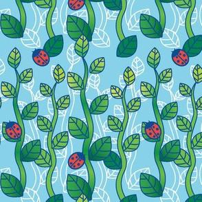 Ladybug Garden-LightBlue