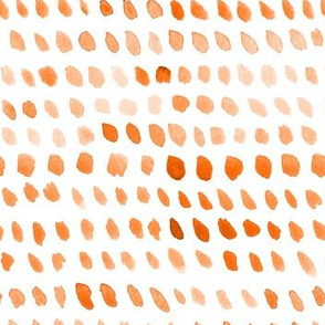 Watercolor Dots - Orange