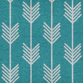 XL Arrow Stripe – Heather Turquoise