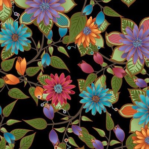Paducaru Bohemian Floral_black
