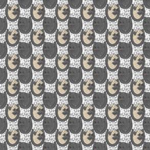 Pug horseshoe portraits - small