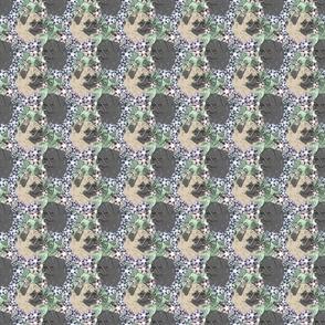 Floral Pug portraits - small