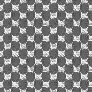 Black Pug horseshoe portraits - small