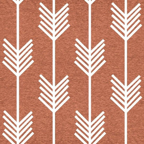 XL Arrow Stripe – Heather Carrot