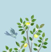 Custom Left Blue LEMON TREE PANEL