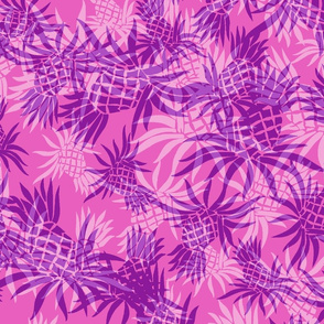Hawaiian Pineapple Camo - Large Size- Fuchsia Pink