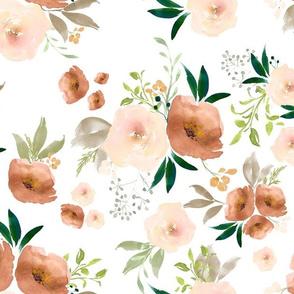 Sante Fe Watercolor Florals // White