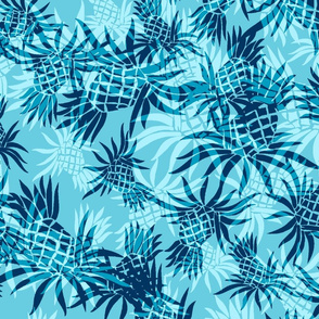 Hawaiian Pineapple Camo - Large Size- Aqua