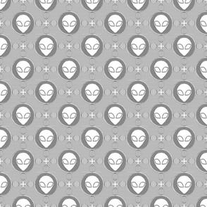 Black and White Alien Line Art- medium
