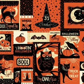 Vintage Halloween Patchwork Large