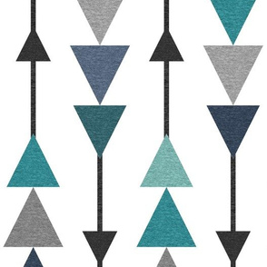 Chasing Triangles – Black Navy Teal Grey