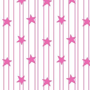 dark pink stars and stripes on white