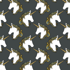 Unicorns in slate grey 7""