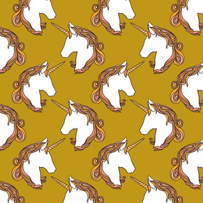 Unicorns in ochre 7""