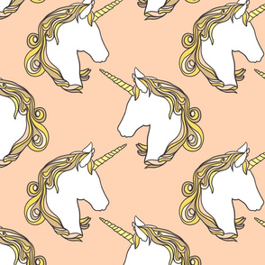 Unicorns in peach 10""