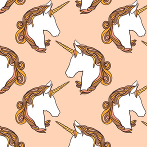 Unicorns in blush 10""