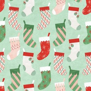 Retro Textured Christmas Stockings