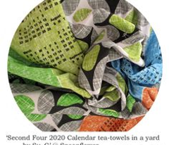 Second Four 2020 Calendar tea-towels in a yard by Su_G_©SuSchaefer