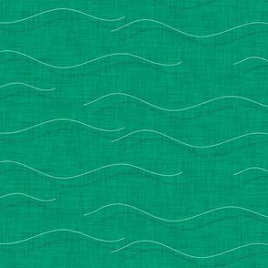 SHARK WHALE WAVES AQUA