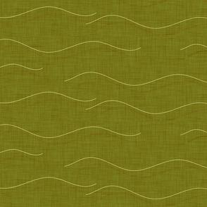 SHARK WHALE WAVES GREEN