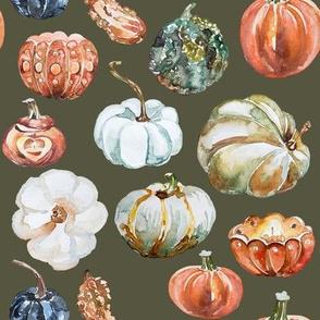 Organic Pumpkins // Hemlock Green