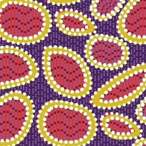 Geometric Tribal - Red, Yellow, and Purple