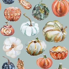 Organic Pumpkins // Tower Gray Blue